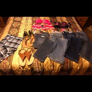 Guess jeans and shorts, Rue 21 sandals, lingerie
